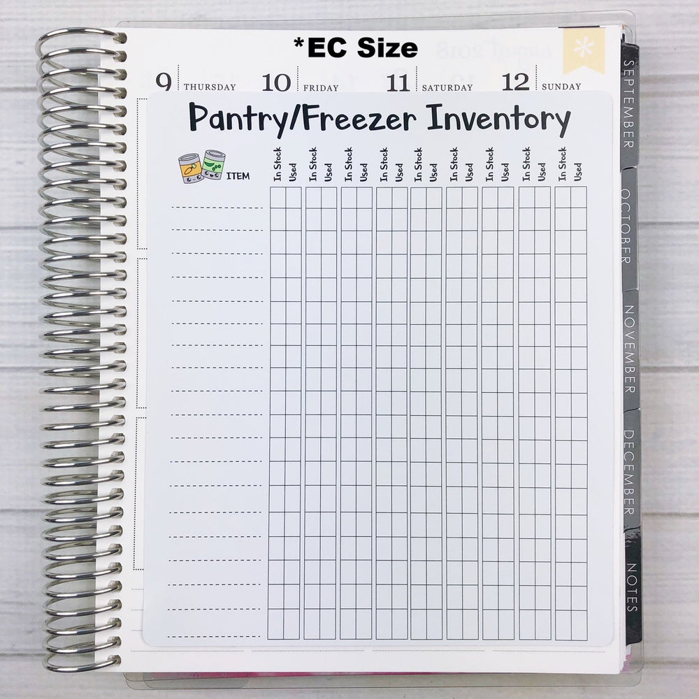 Kawaii Pantry Inventory Jumbo Sticker