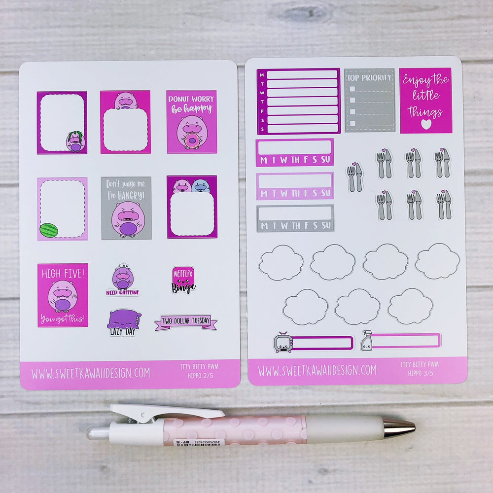 ITTY BITTY Weekly Kit  - Hippos