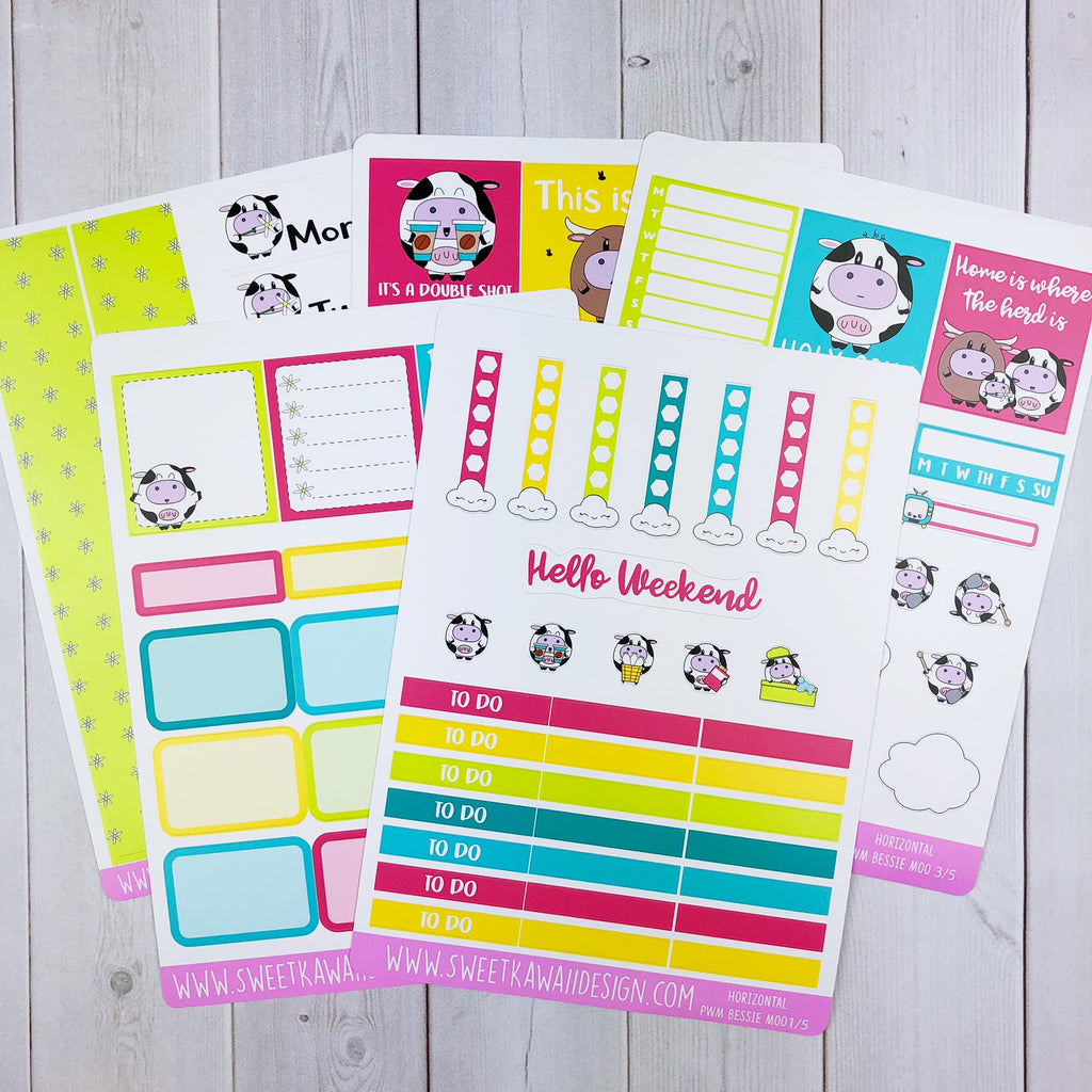 Weekly Kit  - Bessie Moo HORIZONTAL