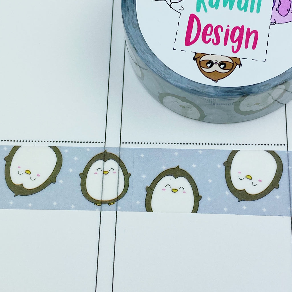 Peek-a-boo Penguin Washi Tape 15mm x 10m