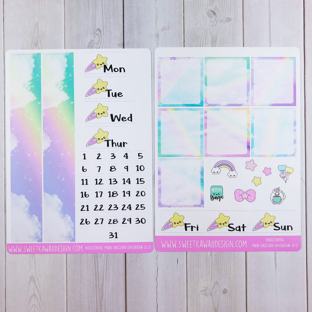 Weekly Kit  - Unicorn Daydreams HORIZONTAL