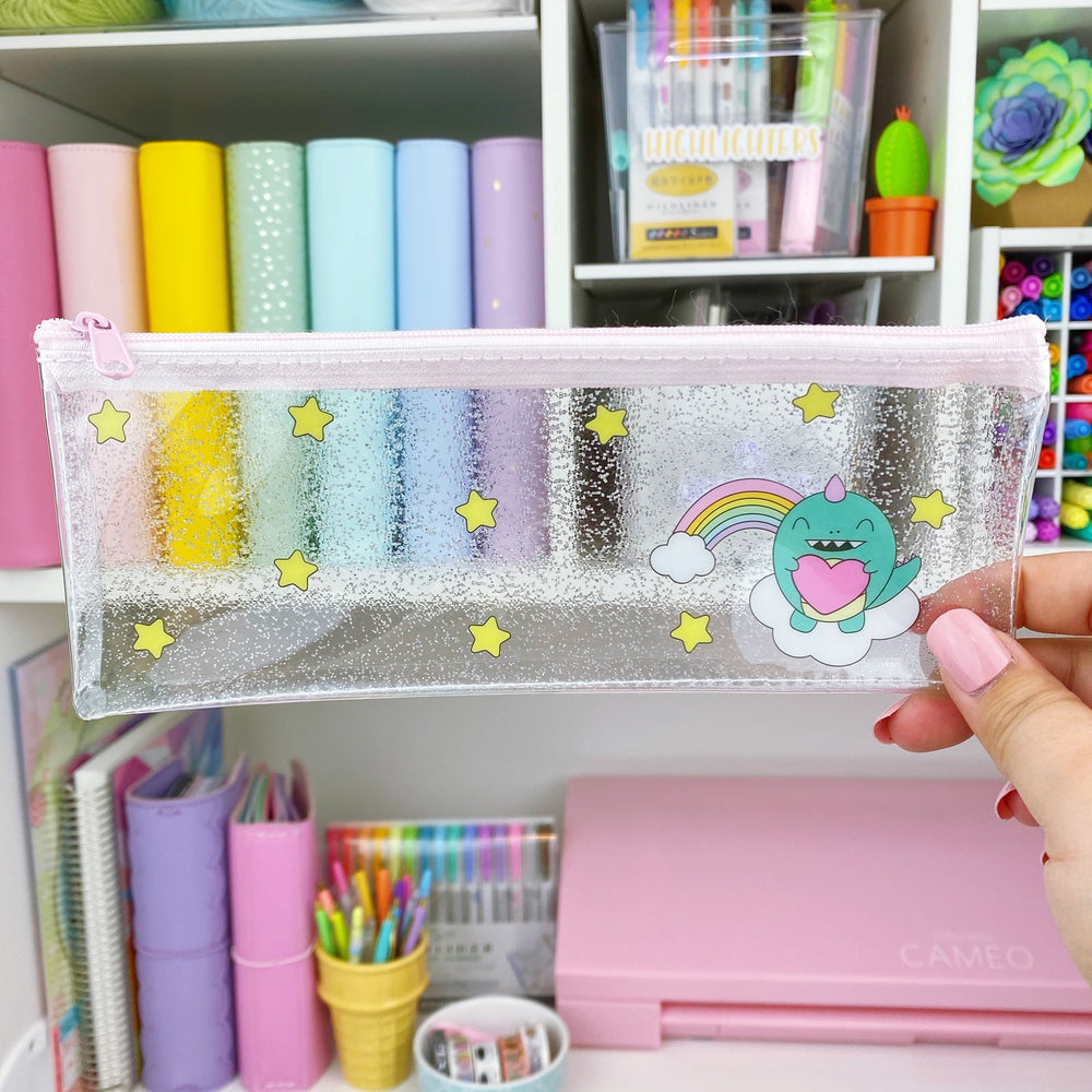 Kawaii Rainbow George Vinyl Pencil Pouch
