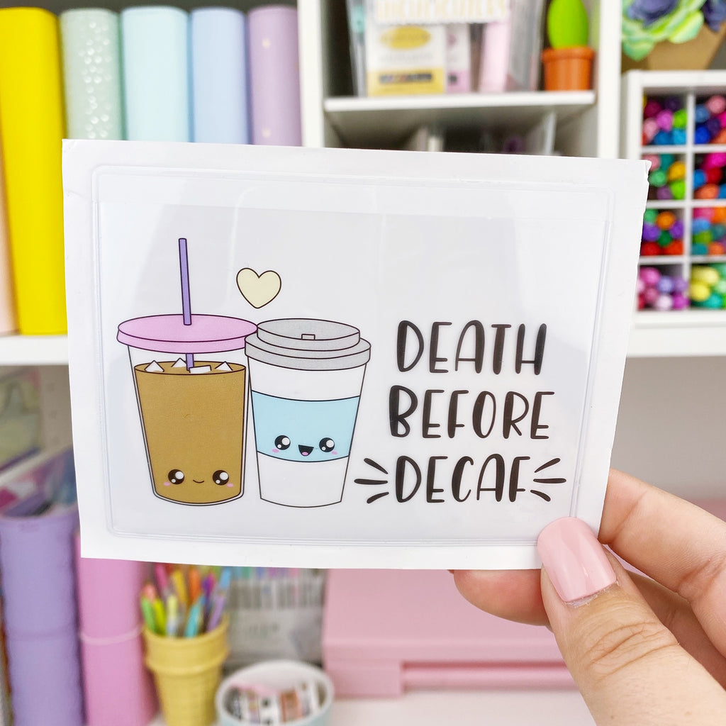 Adhesive Pocket - Death Before Decaf