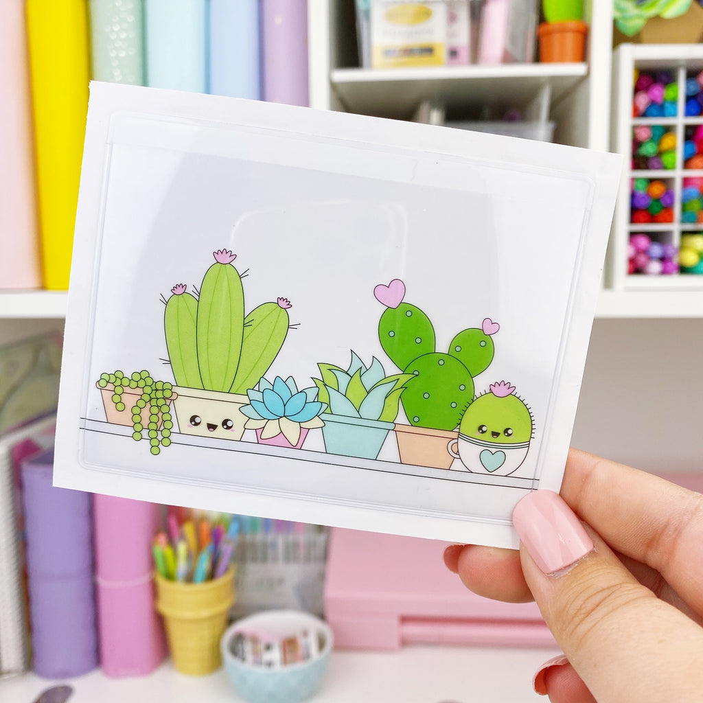 Adhesive Pocket - Cactus Shelf