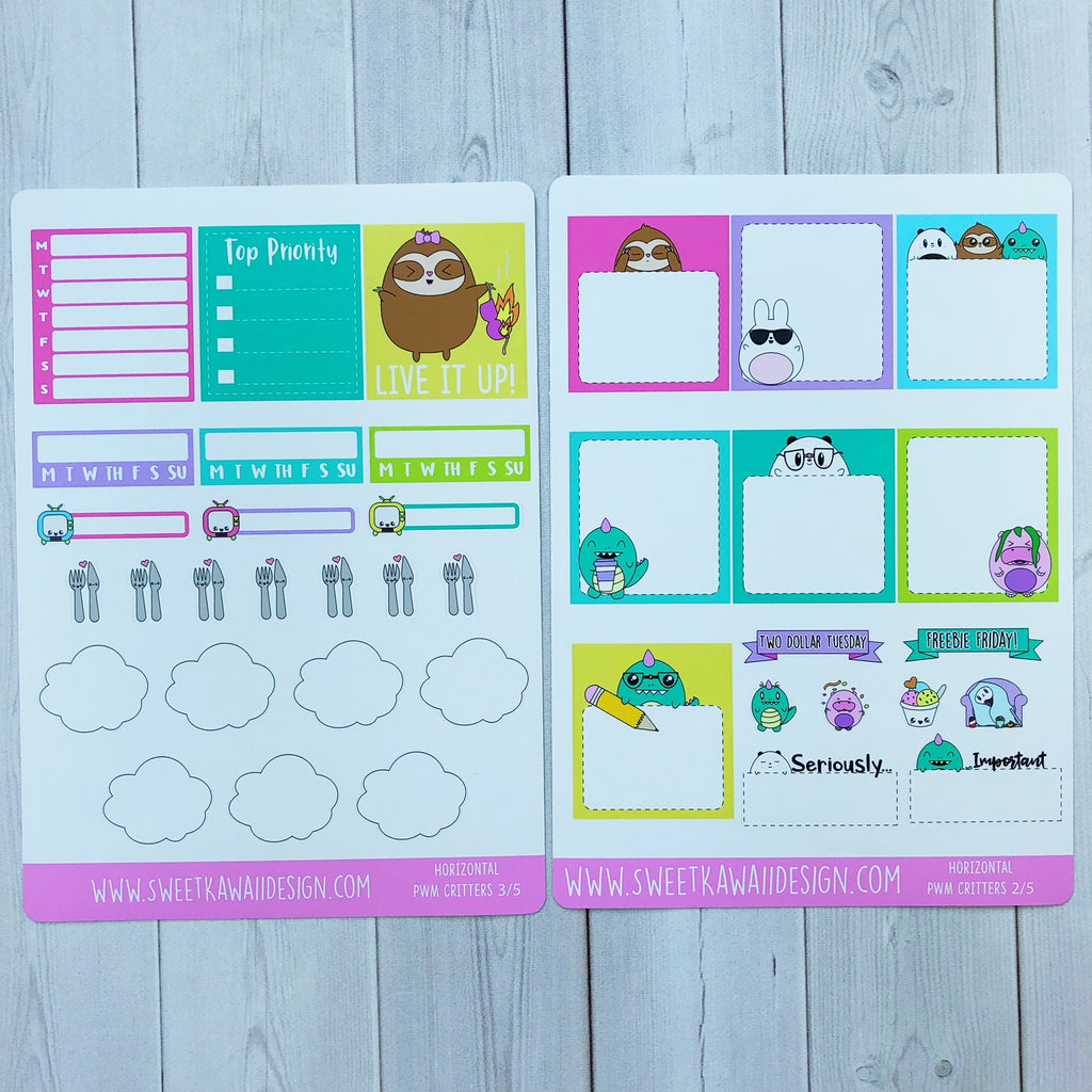 Kawaii Plan With Me - Critters HORIZONTAL
