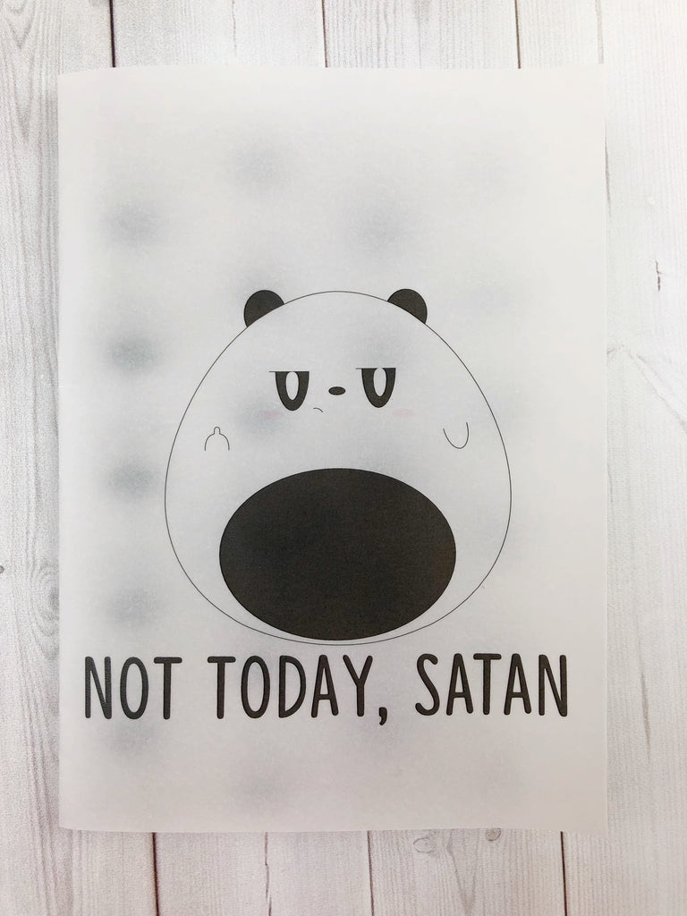 Not Today Satan Vellum Planner Dashboard