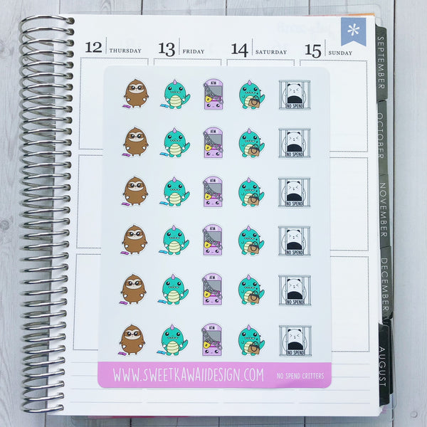 Kawaii Critters Stickers - No Spend