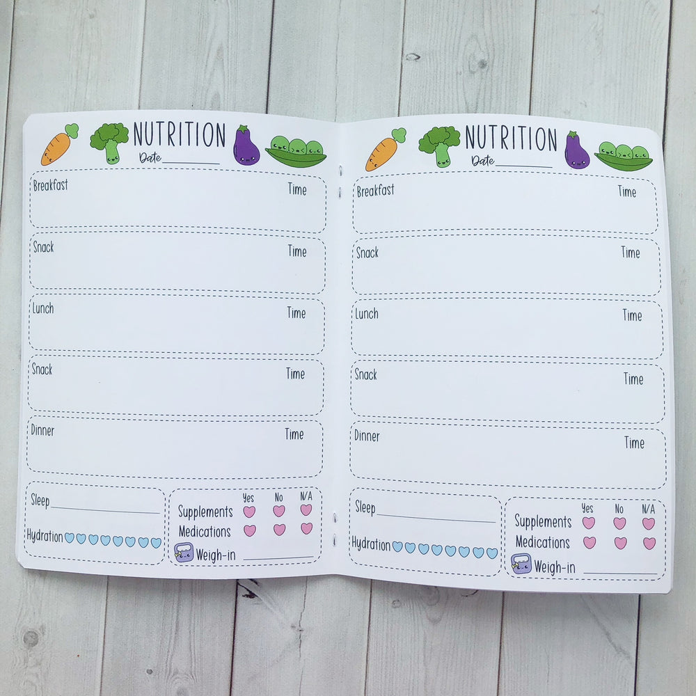 B6 - Nutrition Travelers Notebook Insert  (5x7)