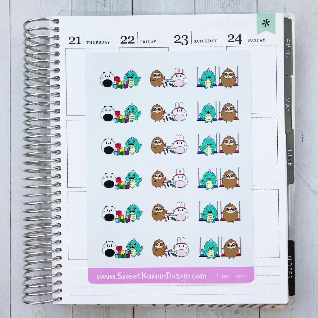 Kawaii Critters Stickers - Play Date