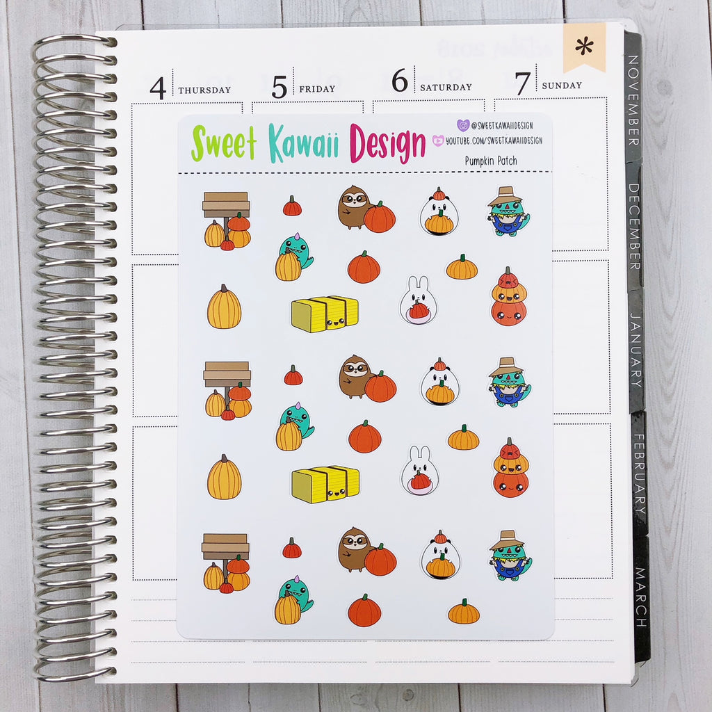 Kawaii Pumpkin Patch Stickers