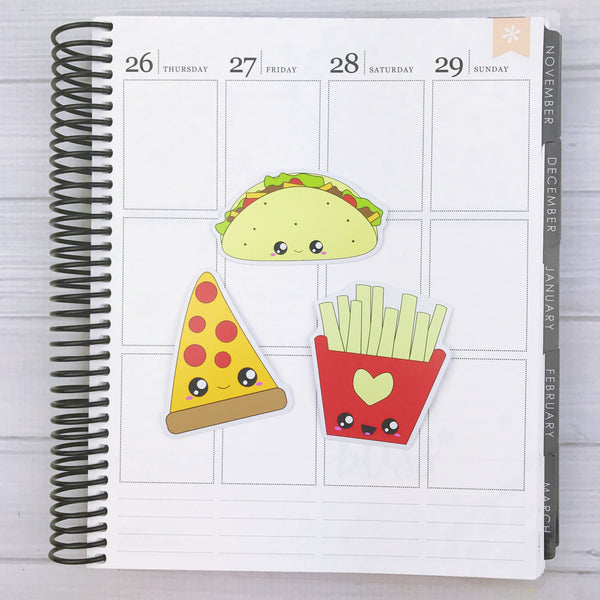 Kawaii Fast Food Diecut Sticker Set