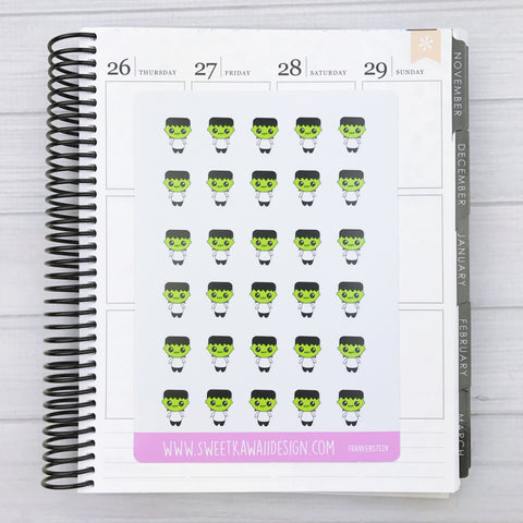 Kawaii Frankenstein Stickers