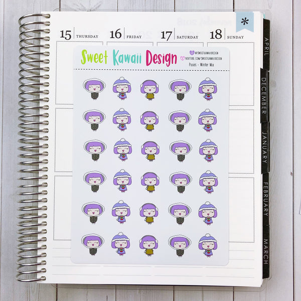 Kawaii Planner Pixies - Winter