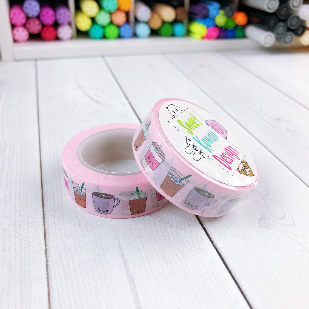 Coffee Love Washi Tape 15mm x 10m