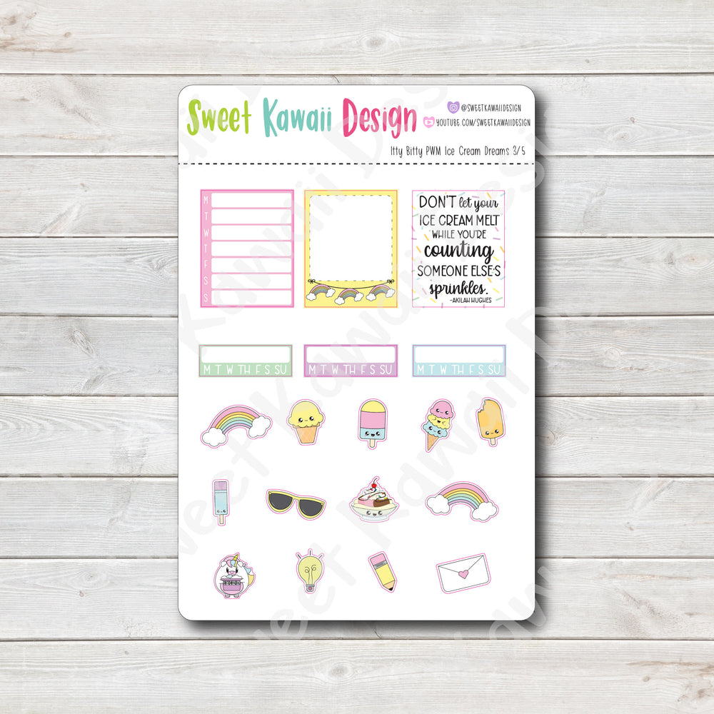 Weekly Kit  - Ice Cream Dreams ITTY BITTY
