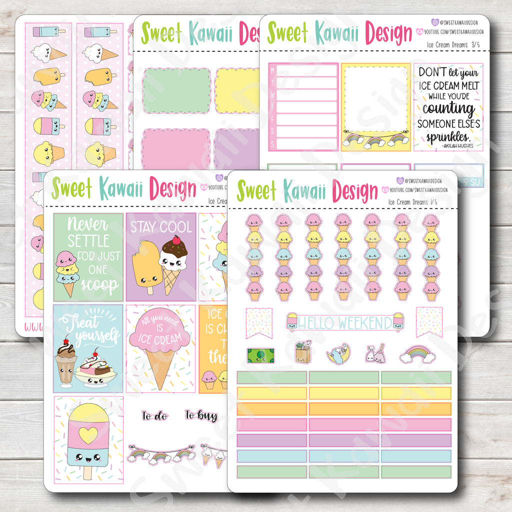Kawaii Plan With Me - Ice Cream Dreams HORIZONTAL
