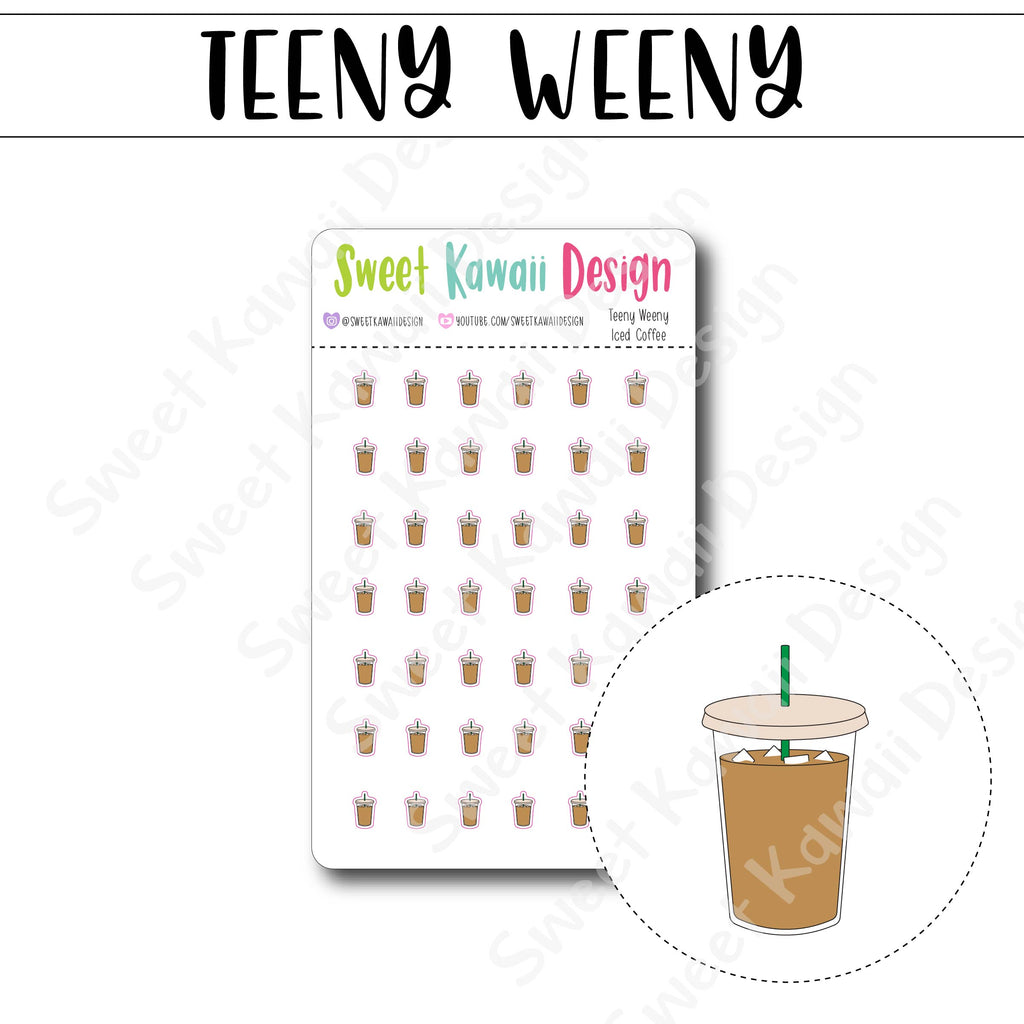 Teeny Weeny Iced Coffee Stickers
