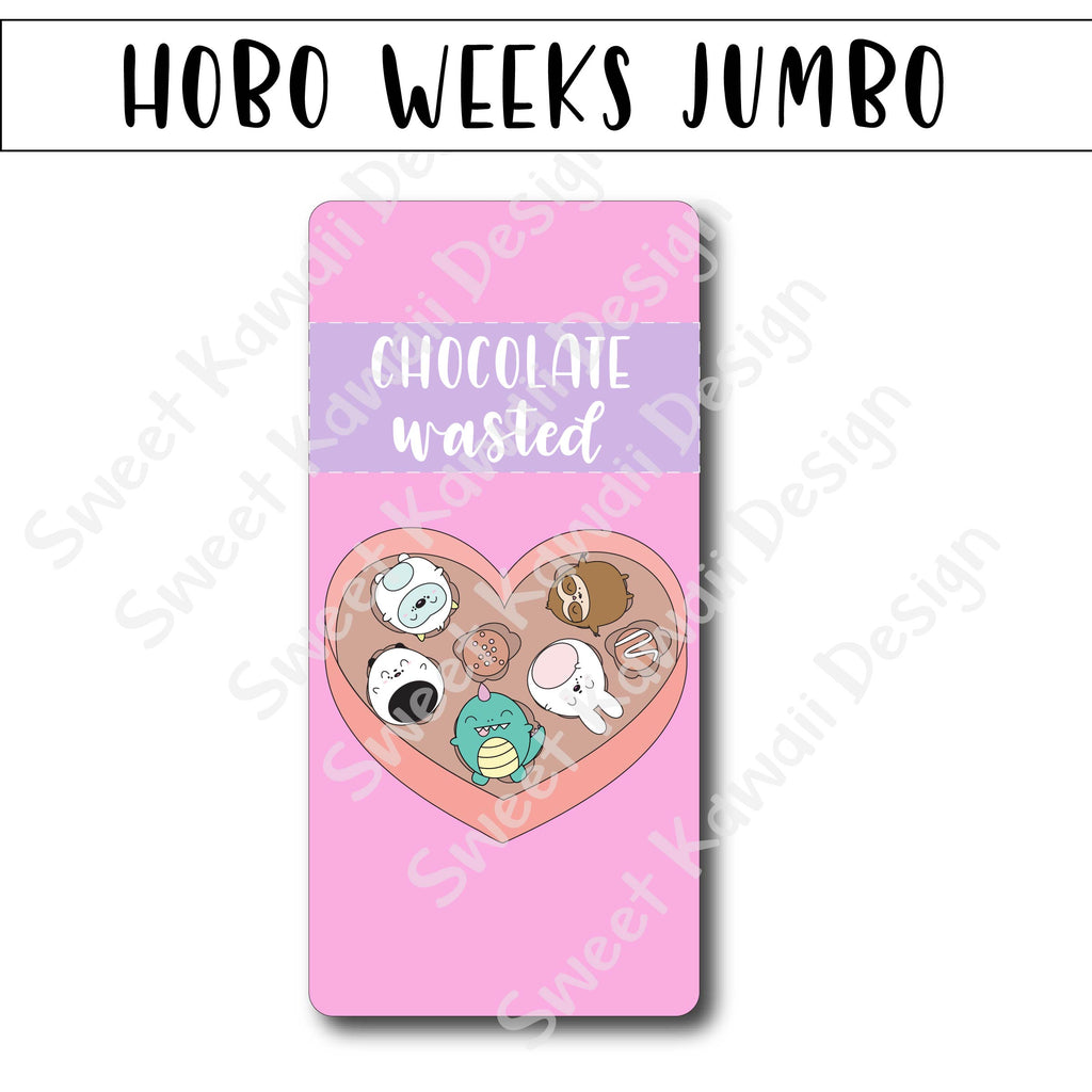 Kawaii Jumbo Sticker - Chocolate Wasted - Size Options Available