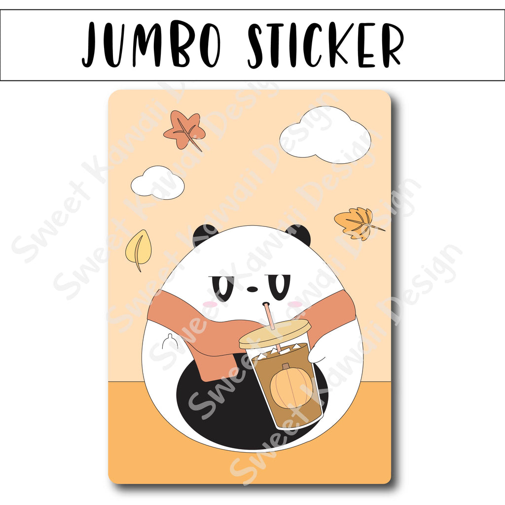 Kawaii Jumbo Sticker - Poe Fall FU - Size Options Available