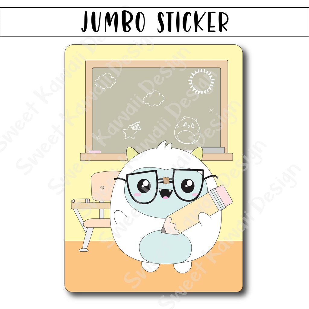 Kawaii Jumbo Sticker - Teacher Frank - Size Options Available