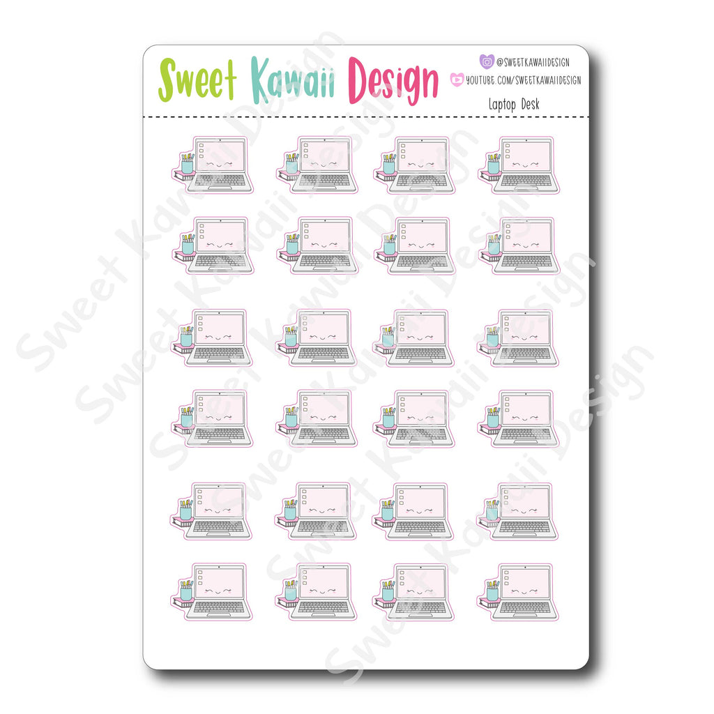 Kawaii Laptop Desk Stickers