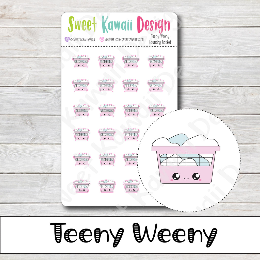Teeny Weeny Laundry Basket Stickers