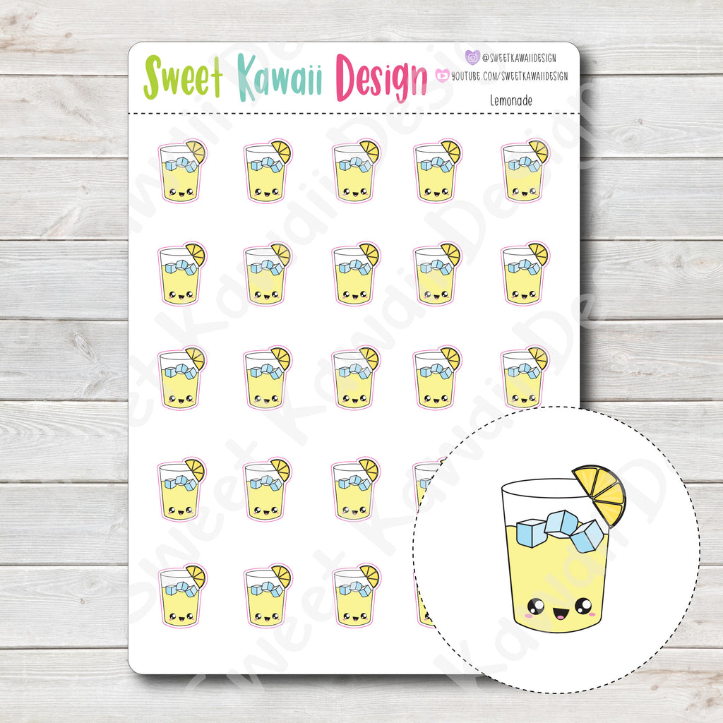 Kawaii Lemonade Stickers