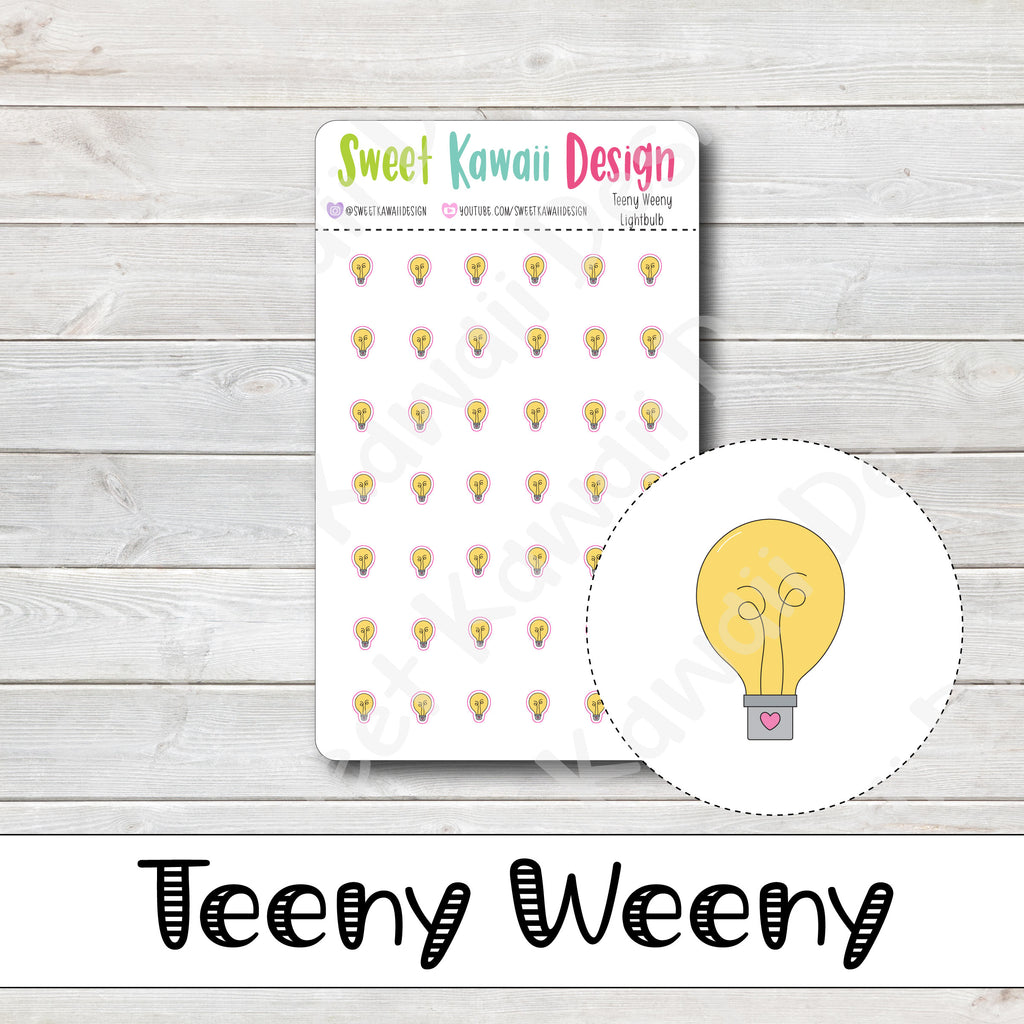 Teeny Weeny Lightbulb Stickers