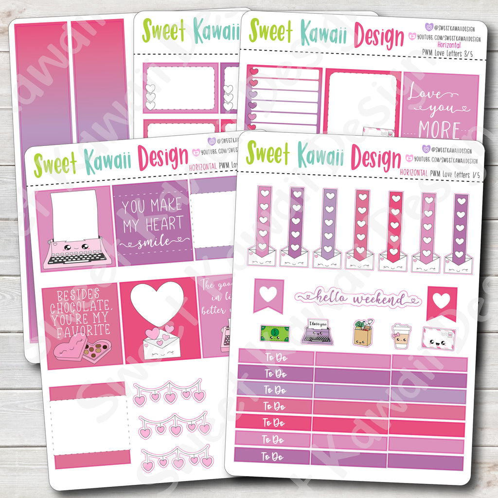 Weekly Kit  - Love Letters HORIZONTAL