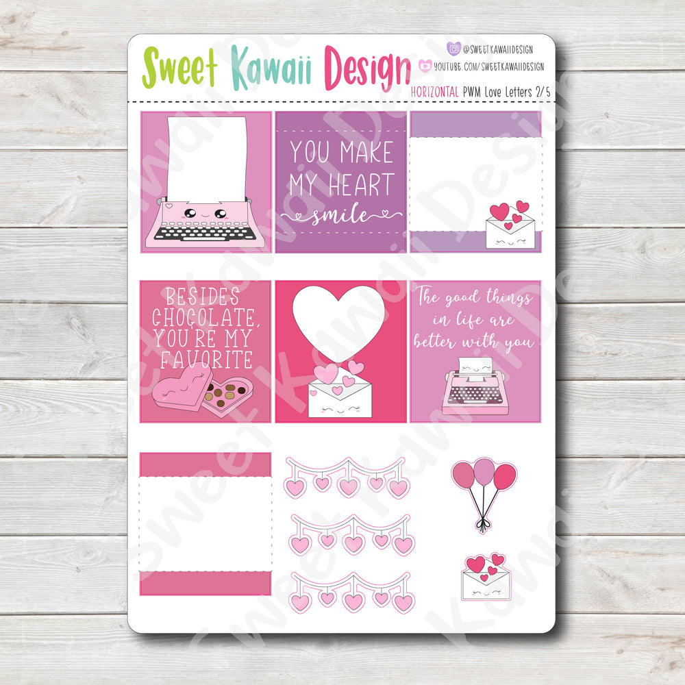 Kawaii Plan With Me - Love Letters HORIZONTAL