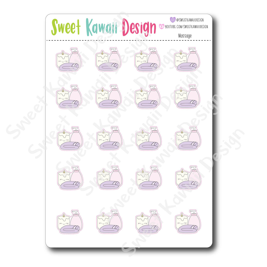 Kawaii Massage Stickers