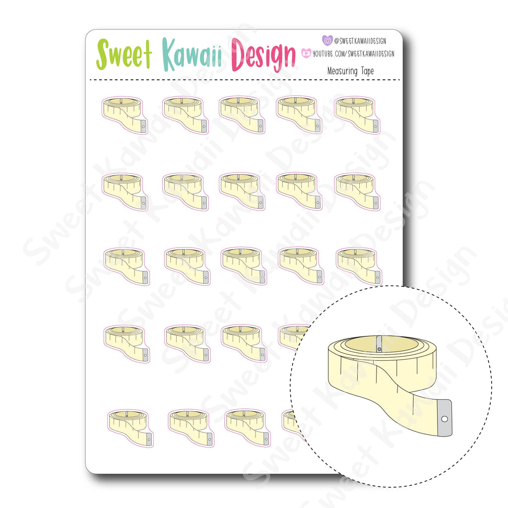 Kawaii Measuring Tape Stickers