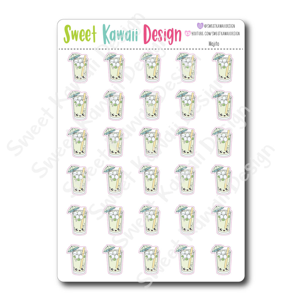 Kawaii Mojito Stickers