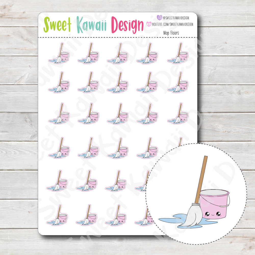 Kawaii Mop Stickers