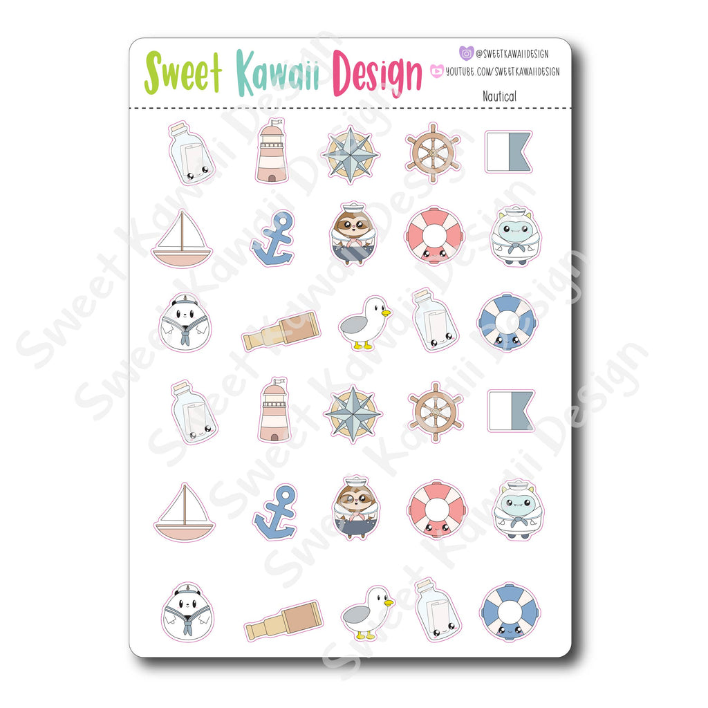 Kawaii Nautical Stickers