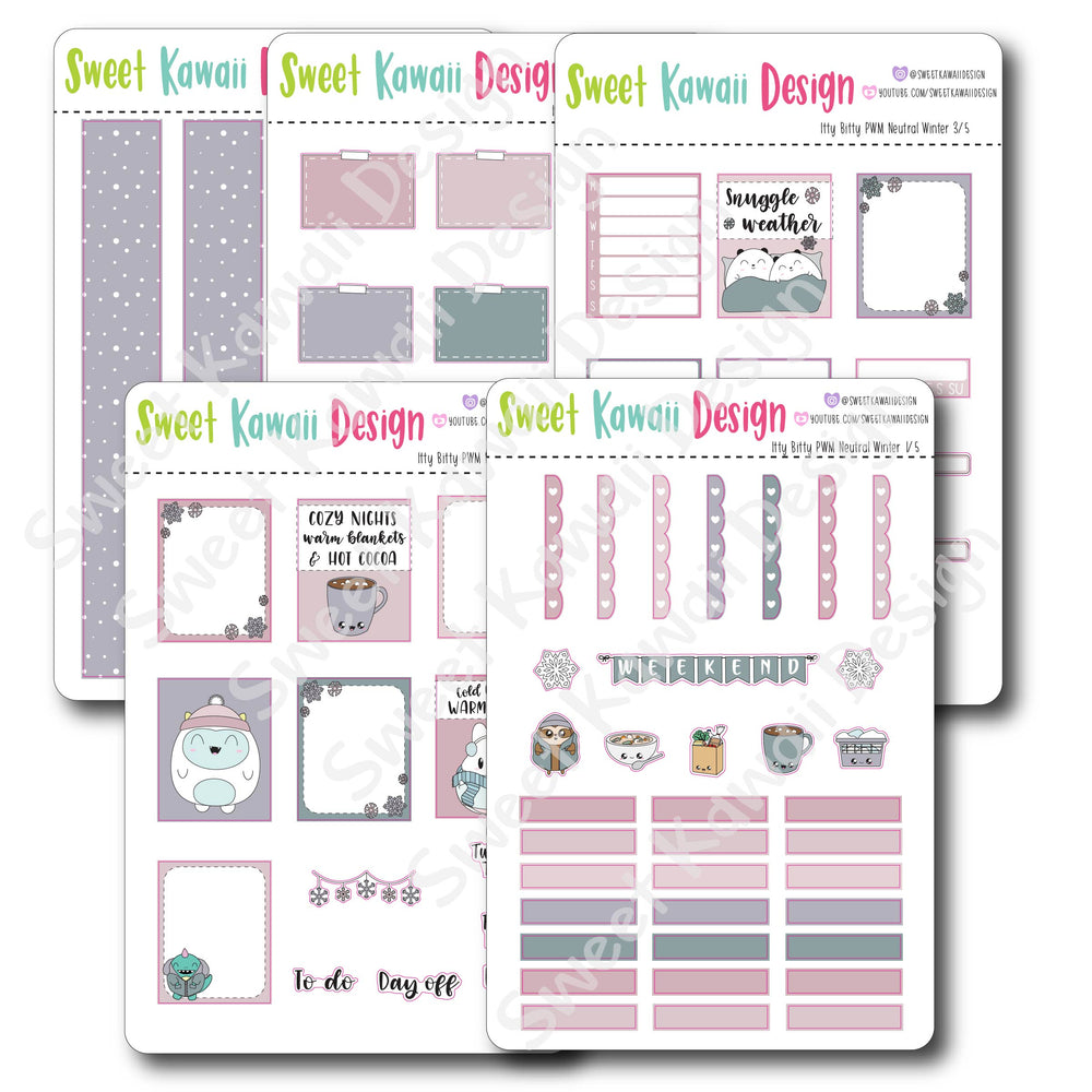 Kawaii Plan With Me - Neutral Winter ITTY BITTY
