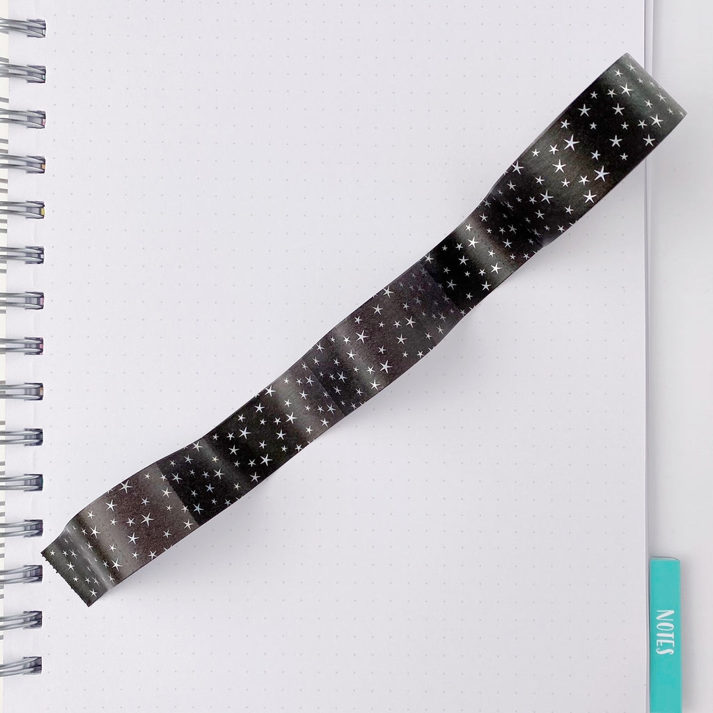 Night Sky with Holo Stars Tab Tape