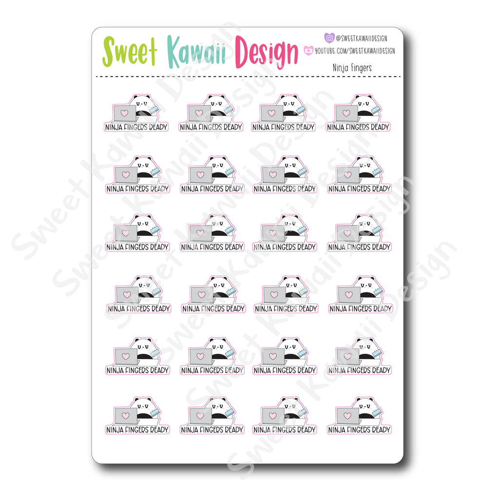 Kawaii Ninja Finger Stickers