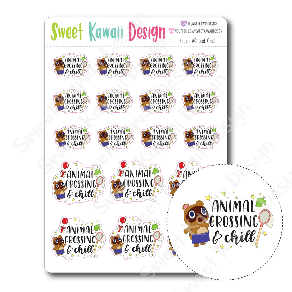 Kawaii Nook Stickers - AC and Chill