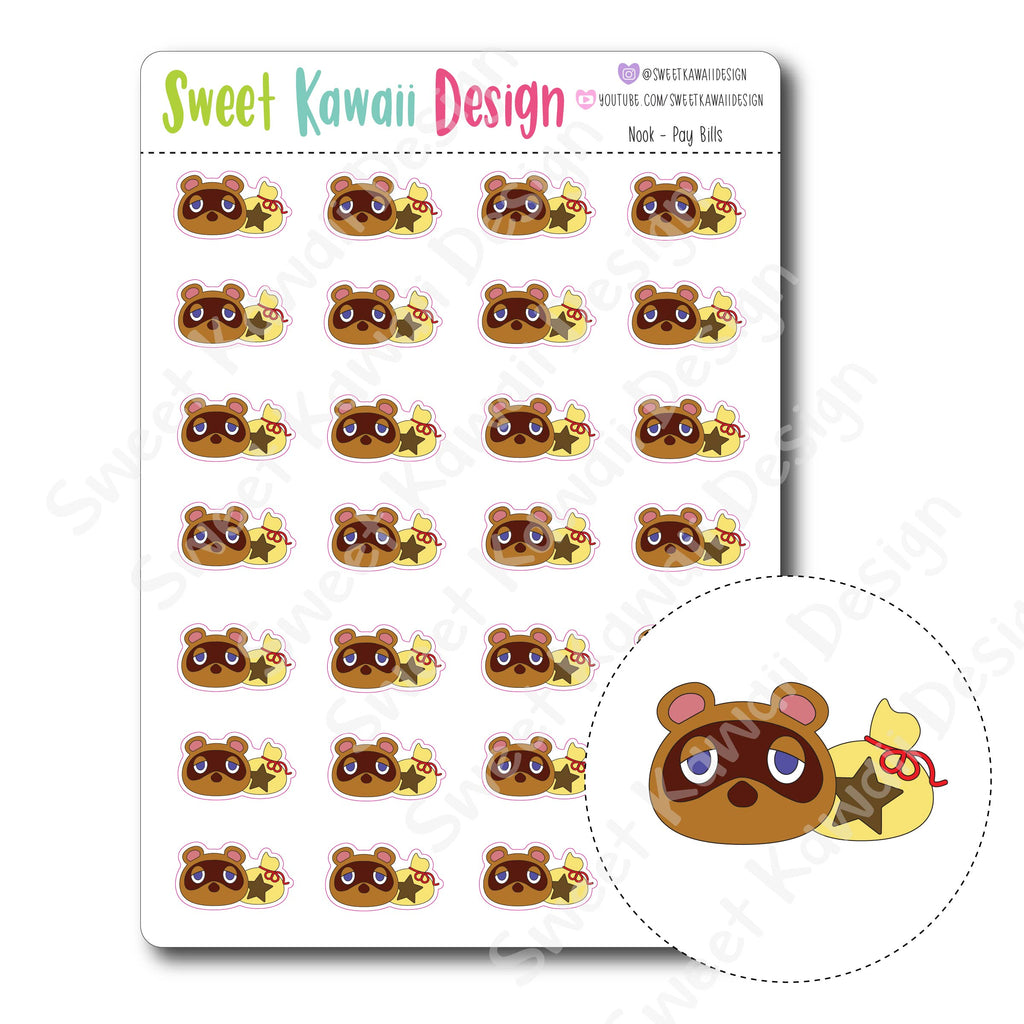 Kawaii Nook - Pay Bill Stickers