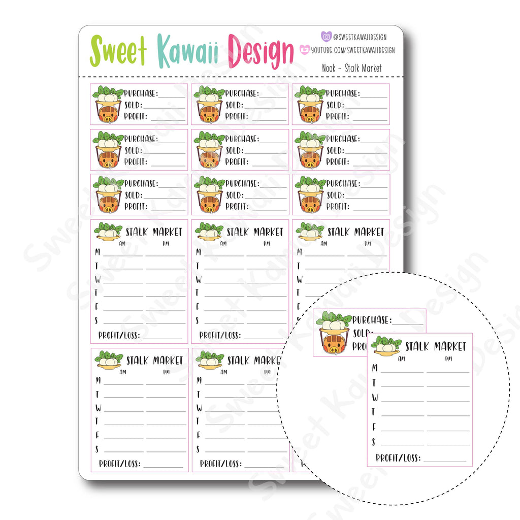 Kawaii Nook Stickers - Stalk Market