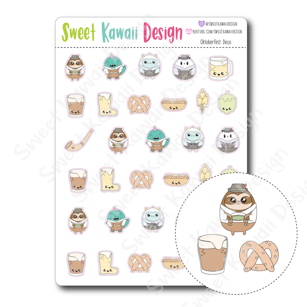 Kawaii Oktoberfest Deco Stickers