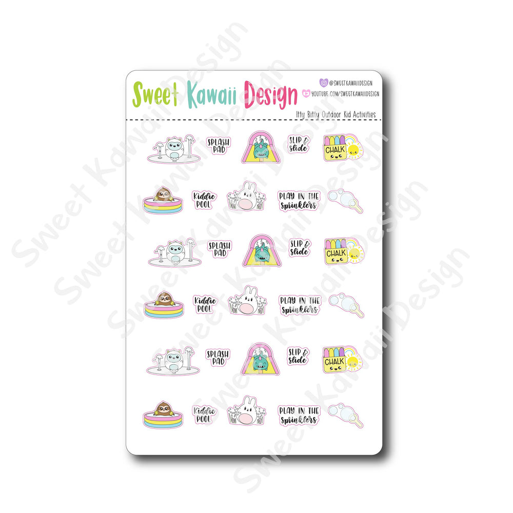 Kawaii Outdoor Kid Activity Stickers