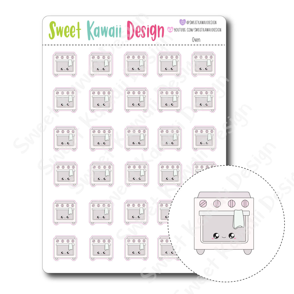 Kawaii Oven Stickers