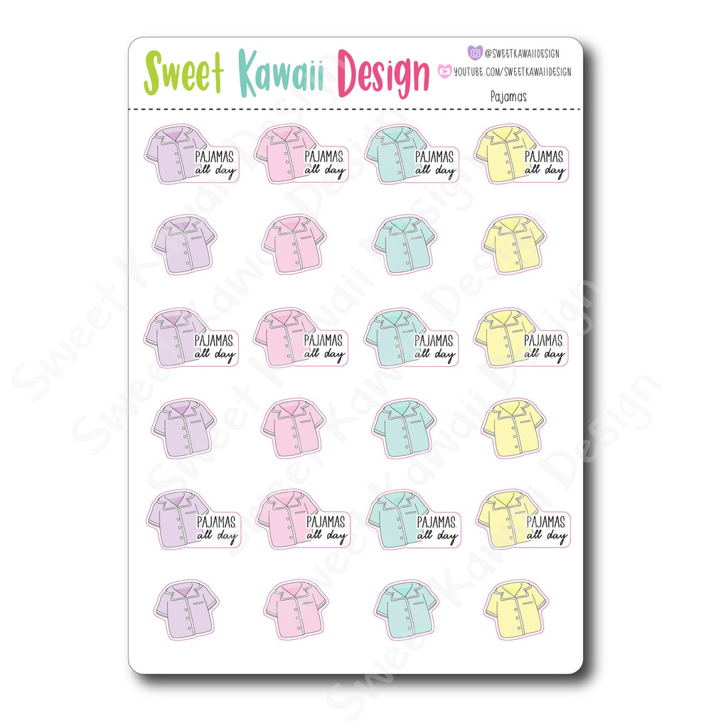 Kawaii Pajama Stickers