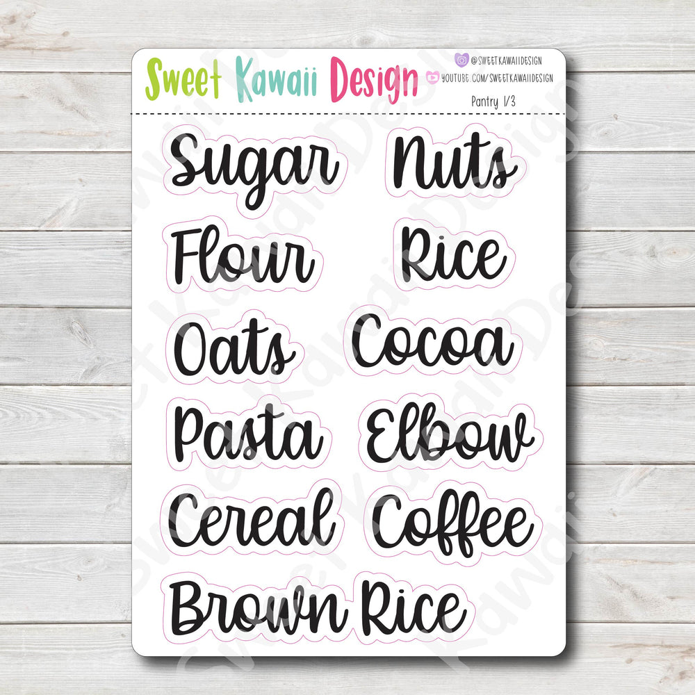 Home Labels - Pantry