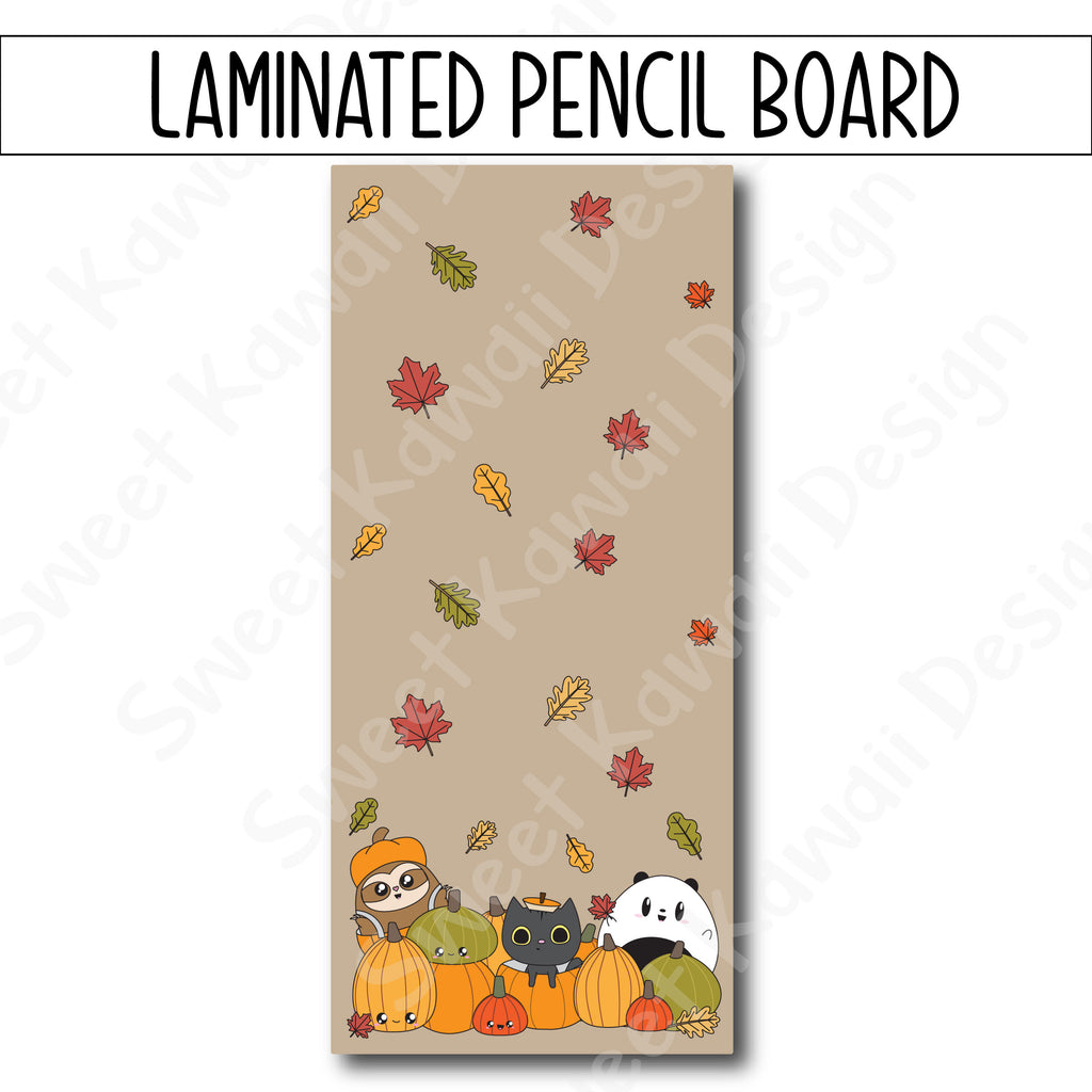 Kawaii I Love Fall Laminated Pencil Board - Hobo Weeks