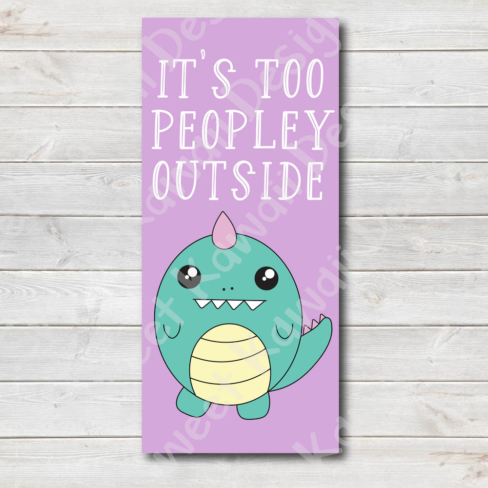 Kawaii Too Peopley Laminated Pencil Board - Hobo Weeks
