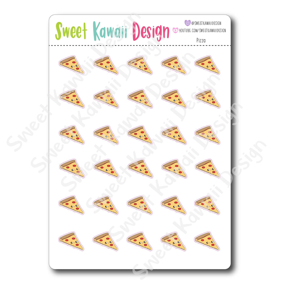Kawaii Pizza Stickers