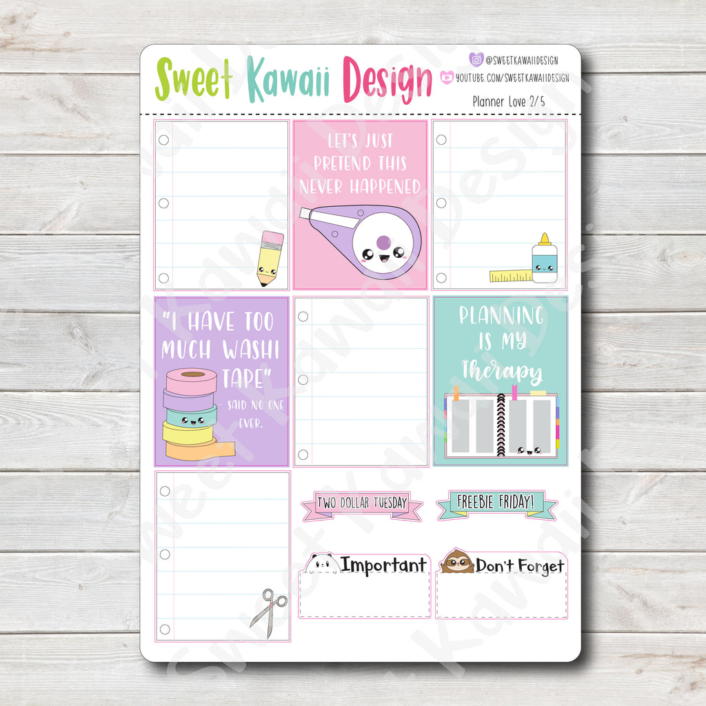 Weekly Kit  - Planner Love